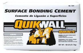 QUIKWALL® Surface Bonding Cement - Gray Pirahna Stucco Edmonton