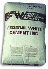 White Portland Cement: FEDERAL WHITE Type I ASTM Designation C-15 Piranha Stucco Edmonton